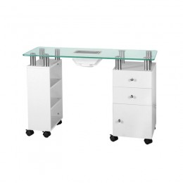 GLASS DESK WITH NO BATTERY 013B WHITE