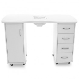 DESK 2027 WHITE TWO CABINETS WITH ABSORBER