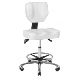 COSMETIC STOOL A-4299 WHITE