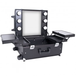 BEAUTY CASE GLAMOR 9552 BLACK CUBE (PORTABLE STAND)