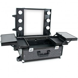 BEAUTY CASE GLAMOR 9552 BLACK CRYSTAL (MOBILE STATION)