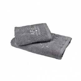APIS Terry towel with 50x100 logo - gray