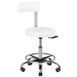 COSMETIC STOOL A-123B WHITE