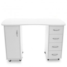 DESK 2027 BP WHITE TWO CABINETS