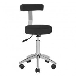 COSMETIC STOOL AM-303 WITH BLACK BACK