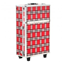 COSMETIC CASE S-015 RED GRID