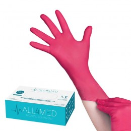 ALL4MED DISPOSABLE DIAGNOSTIC GLOVES, RASPBERRY, M