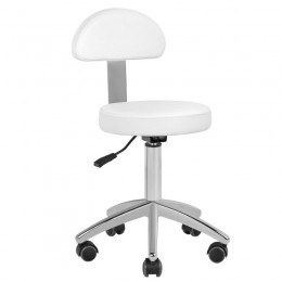 BASIC 304 COSMETIC STOOL. WHITE