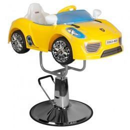 CHILDREN'S HAIRDRESSING CHAIR CAR PORSCHE B041C YELLOW