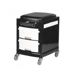 HELP - STOOL FOR PEDICURE 16-1 BLACK / WHITE