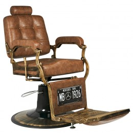 GABBIANO BARBER CHAIR BOSS OLD LEATHER LIGHT BROWN