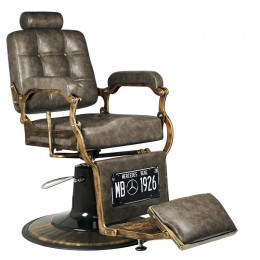 GABBIANO BARBER CHAIR BOSS OLD LEATHER DARK BROWN BROWN