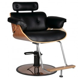 GABBIANO HAIRDRESSING CHAIR FLORENCE BLACK NUT