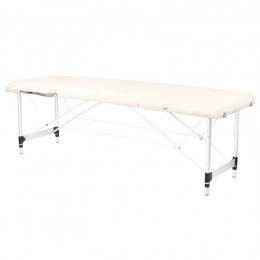 ALUMINUM FOLDED MASSAGE TABLE COMFORT 2 SEGMENT CREAM
