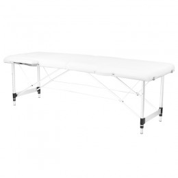 ALUMINUM FOLDED MASSAGE TABLE COMFORT 2 SEGMENT WHITE