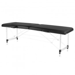 ALUMINUM FOLDED MASSAGE TABLE COMFORT 2 BLACK SEGMENTS