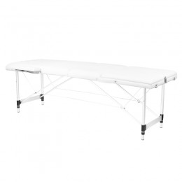 ALUMINUM FOLDED MASSAGE TABLE COMFORT 3 SEGMENT WHITE