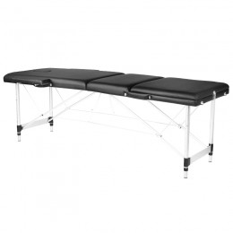ALUMINUM FOLDED MASSAGE TABLE COMFORT 3 SEGMENT BLACK